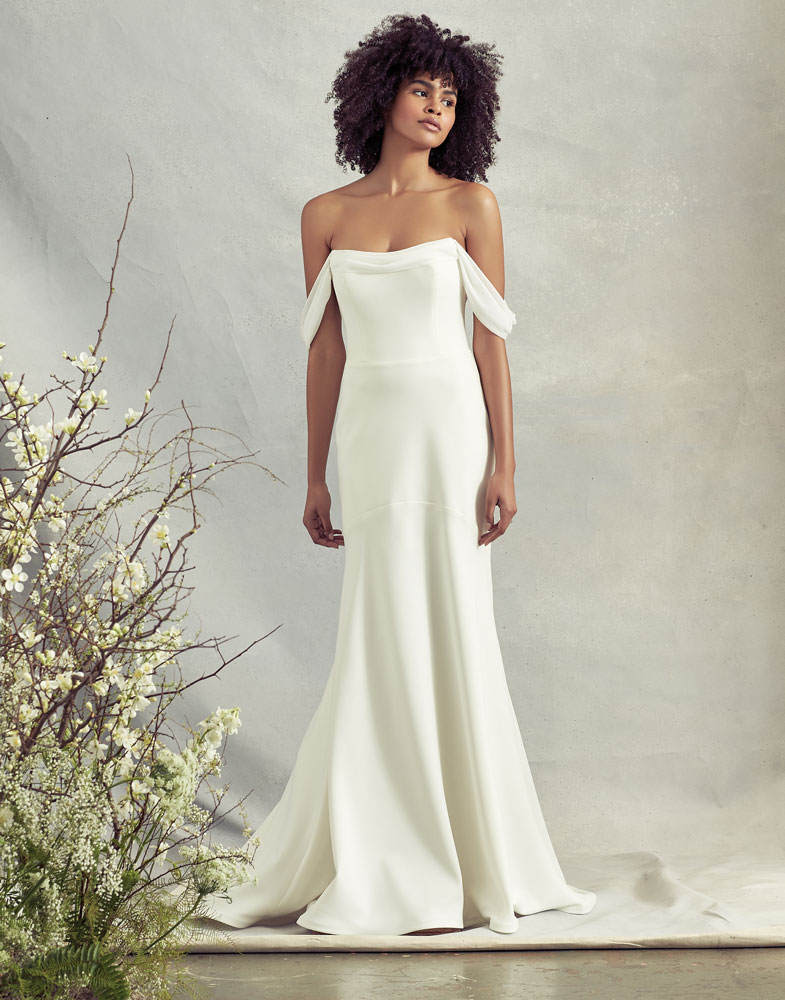 Wedding Gown with Dramatic Straps