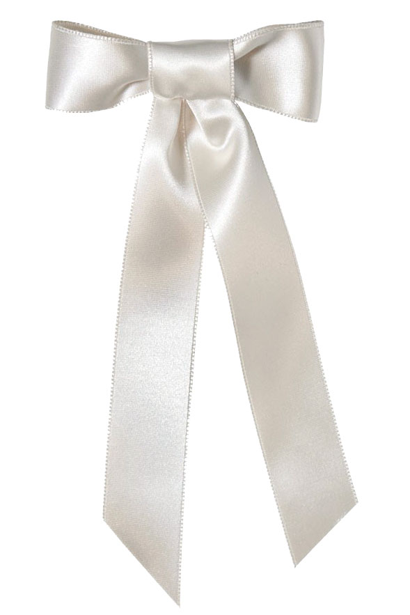 satin bow barette by jennifer behr