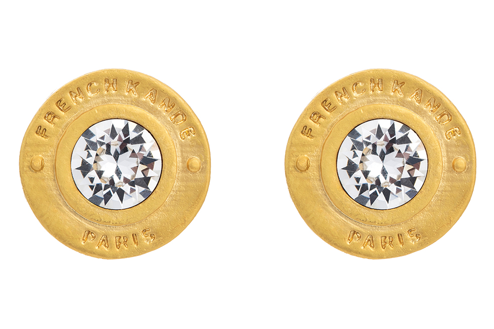 14k gold-plated earring studs by French Kande