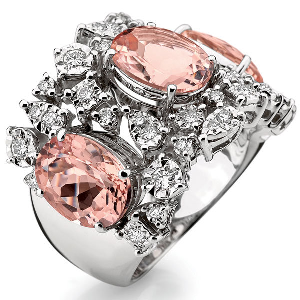 parade designs morganite diamond ring