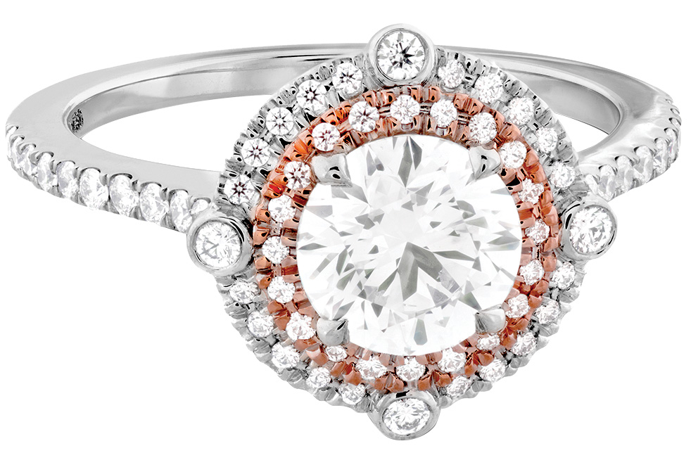 hearts on fire round engagement ring