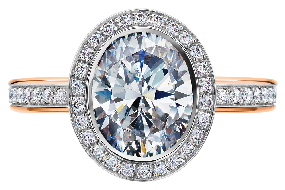 mark patterson oval engagement ring