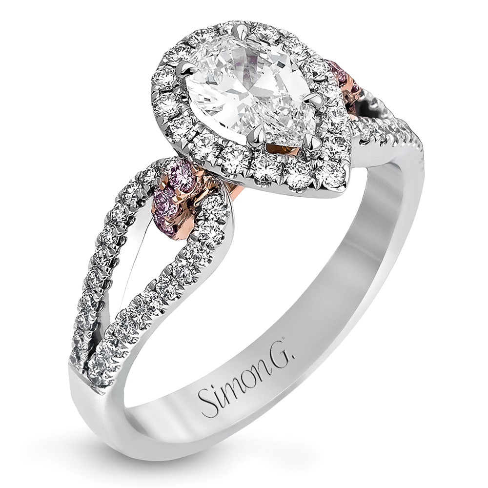 simon g pear shaped engagement ring
