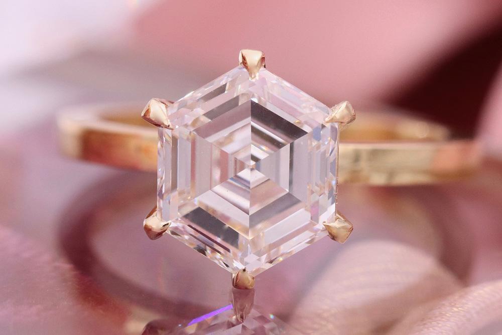 unique center stone engagement ring