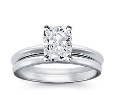 cushion engagement ring