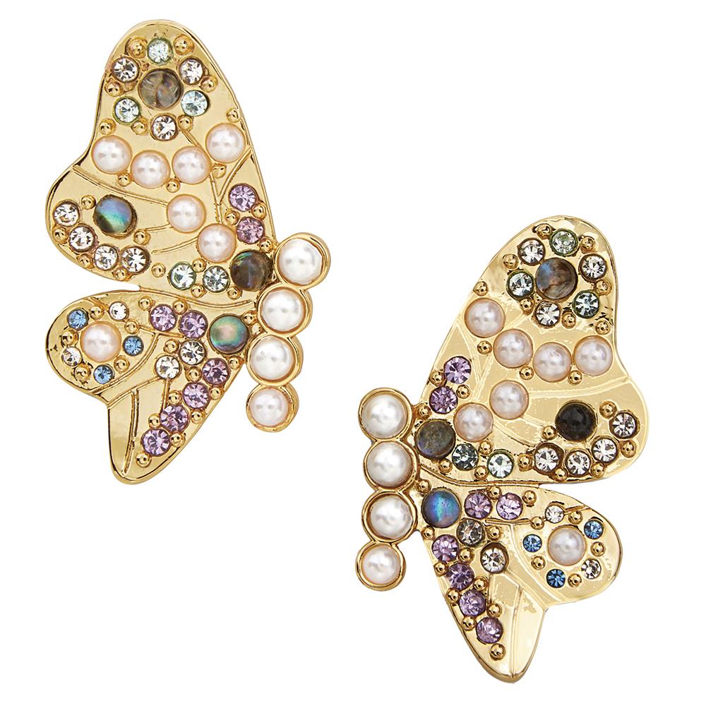 Butterfly stud earrings by BaubleBar