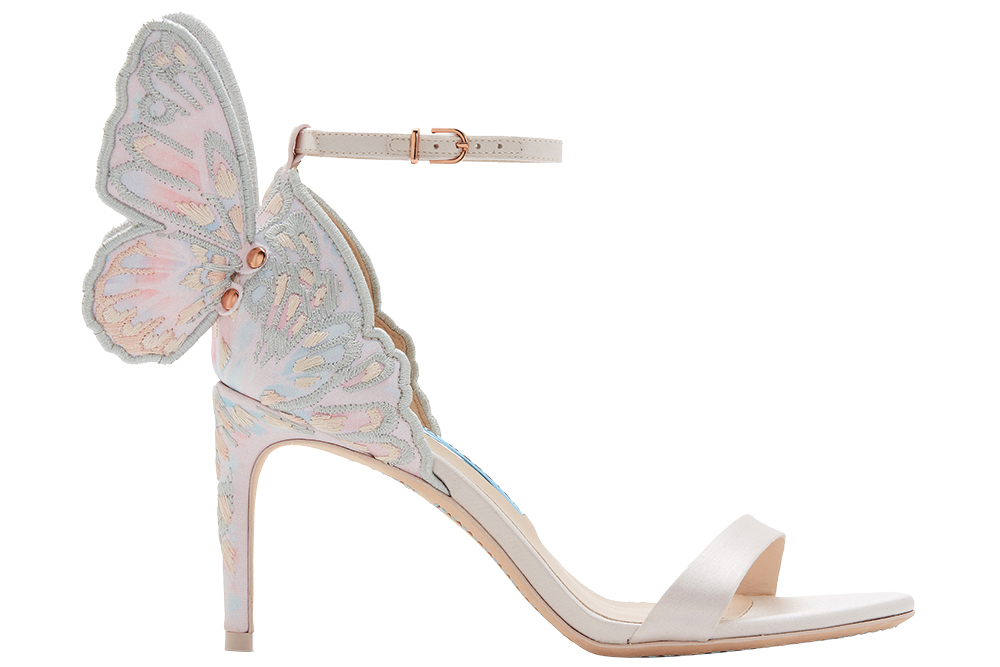 Pastel butterfly heel