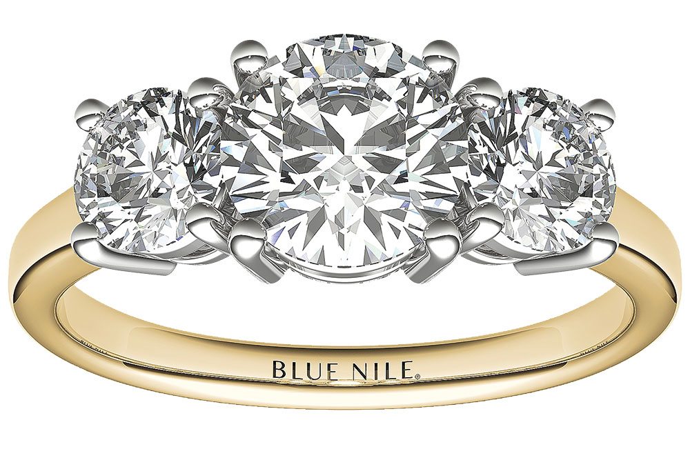 Blue Nile gold engagement ring