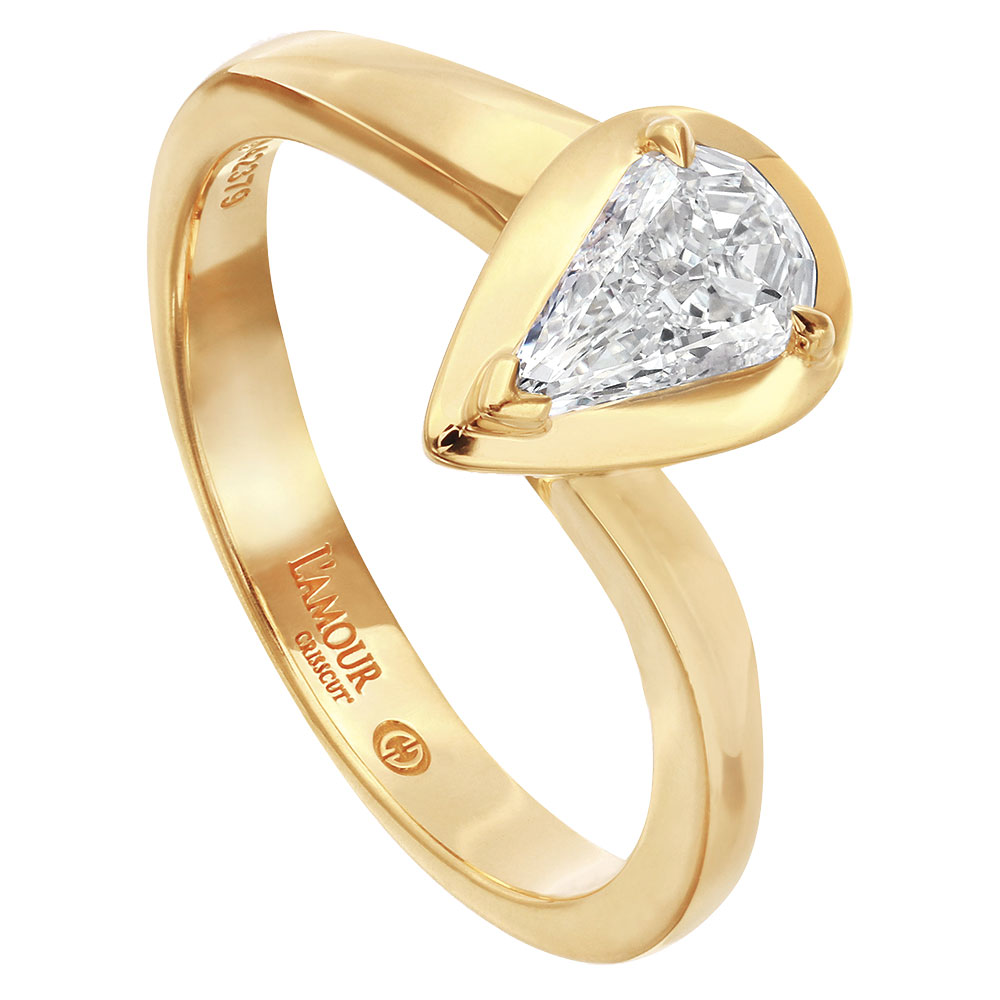Christopher Designs gold engagement ring