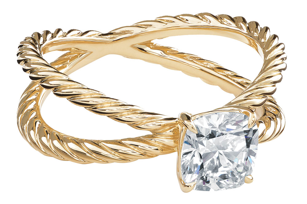 David Yurman gold engagement ring