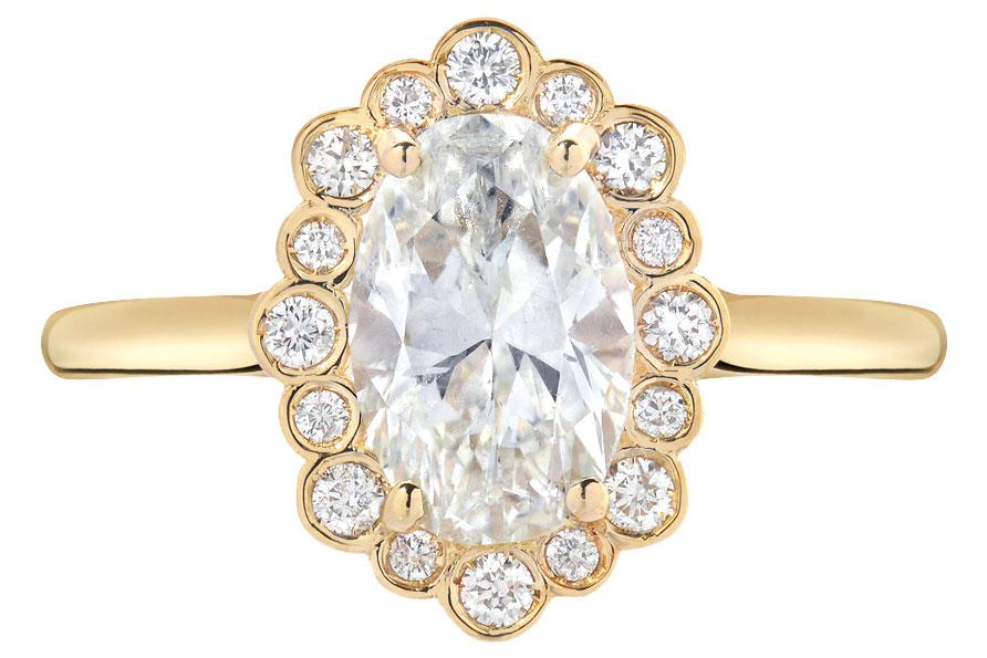Edward Avedis gold engagement ring