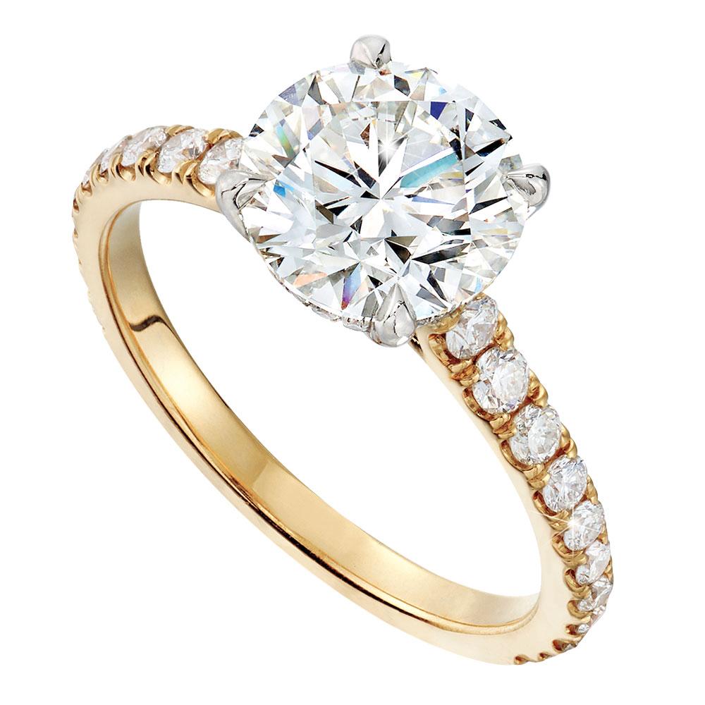 Lauren Addison gold engagement ring