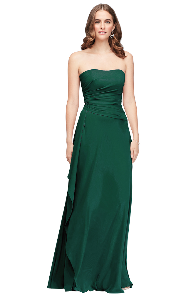 Davids Bridal green bridesmaid dress