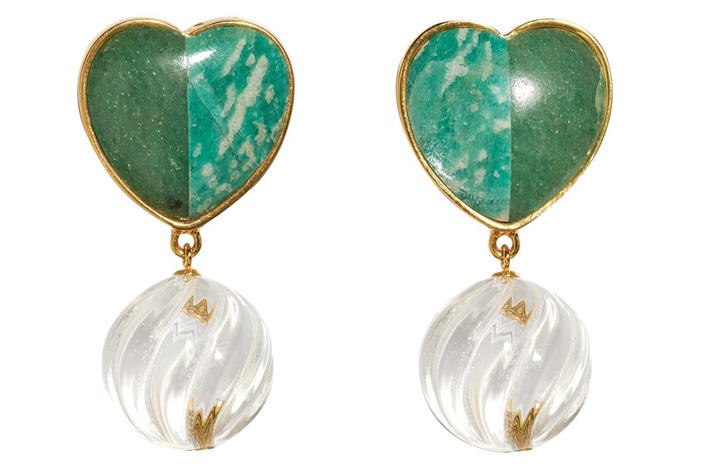 Lizzie Fortunato green earrings