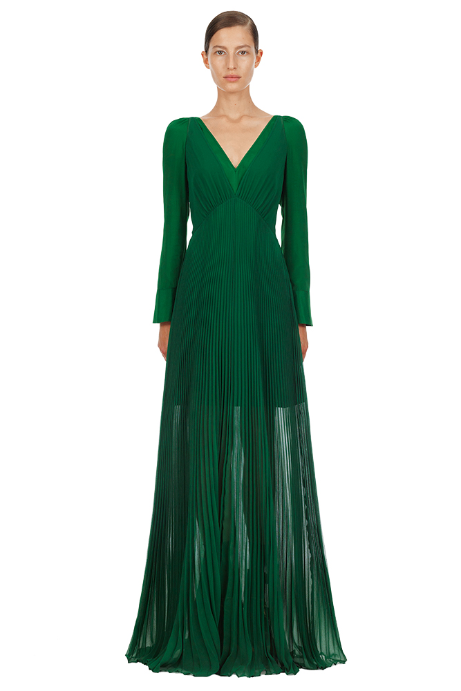 Self Portrait green wedding bridesmaid dress
