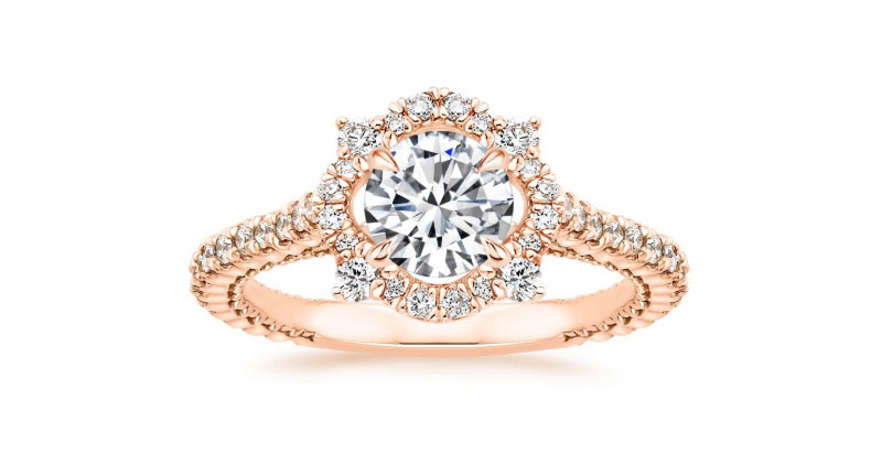 Lab Grown Rose Gold Engagement Ring