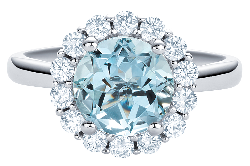 Aquamarine engagement ring by Brilliant Earth