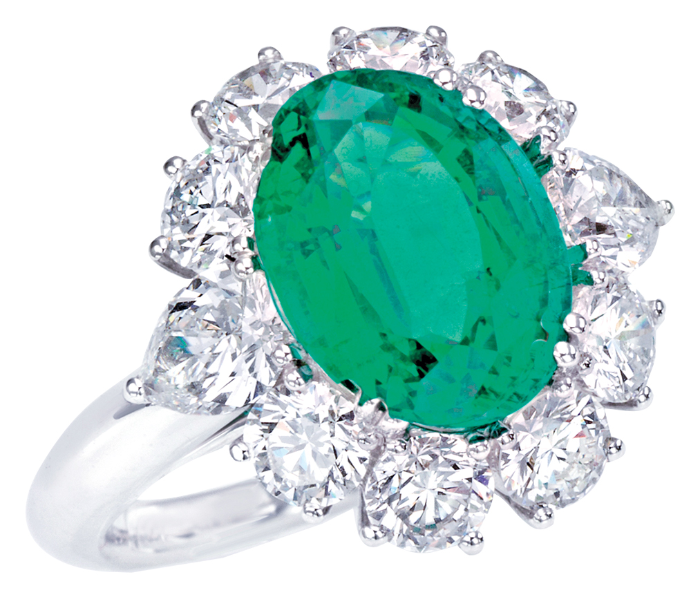 Emerald engagement ring by Picchioti