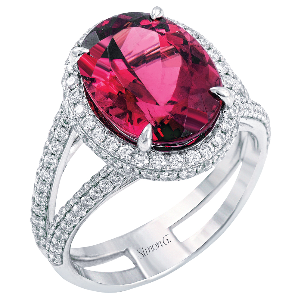 Ruby engagement ring by Simon G Jewelry
