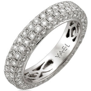 Show Off Your Love For Sparkle With Round Diamonds Set In A Platinum Band By Yael Designs Yaeldesigns