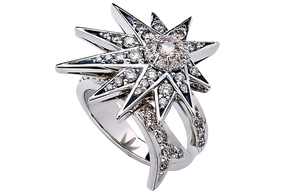 Hstern shooting star engagement ring