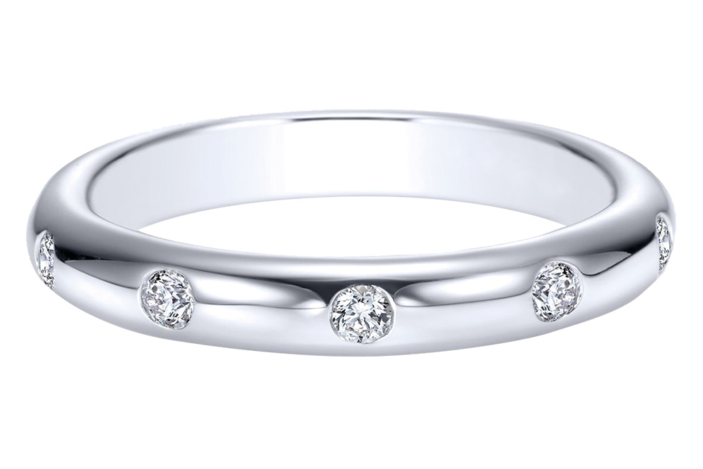 Gabriel and Co Stacked Wedding Ring