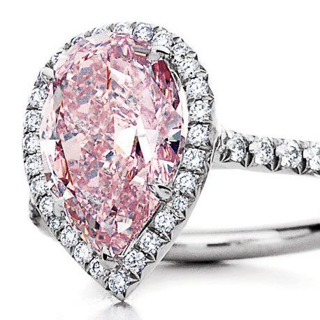 tiffany and co pink diamond ring - Pink Diamond Wedding Ring