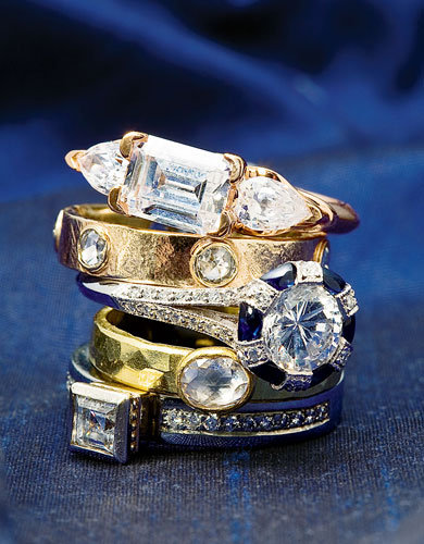 rings by maevona - One Of A Kind Wedding Rings