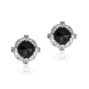 ashley morgan black diamond studs