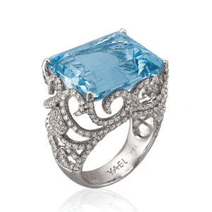 yael blue diamond ring