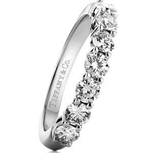 45399650c this platinum band with a half circle of round diamonds by tiffany co is an  elegant