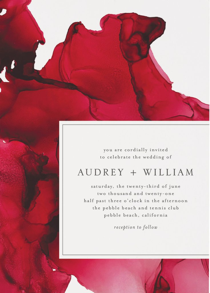 Red wedding invitation Minted