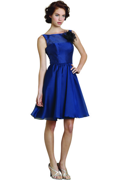 jim hjelm occasions blue bridesmaids dress