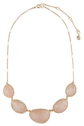rose quartz statement necklace by chloe and isabel