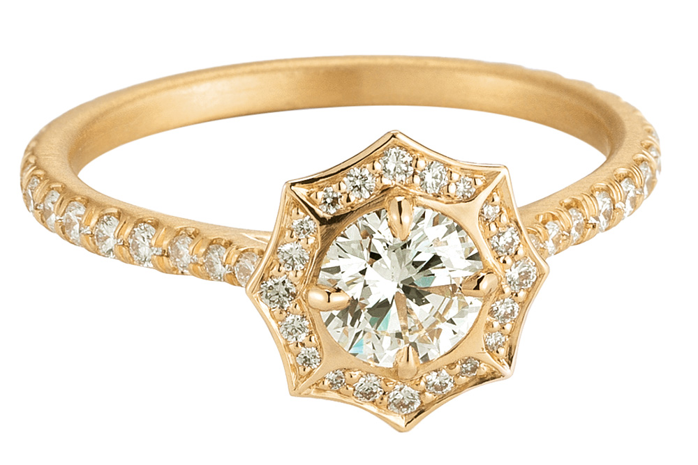 forevermark by jade trau gold engagement ring