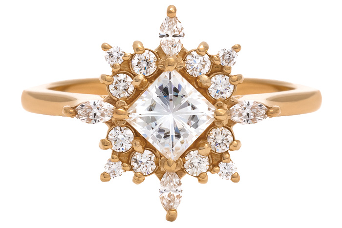 porter gulch gold engagement ring
