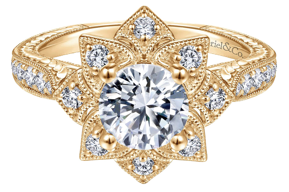 gabriel and co gold engagement ring