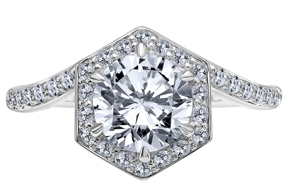 halo engagement ring by karl lagerfeld