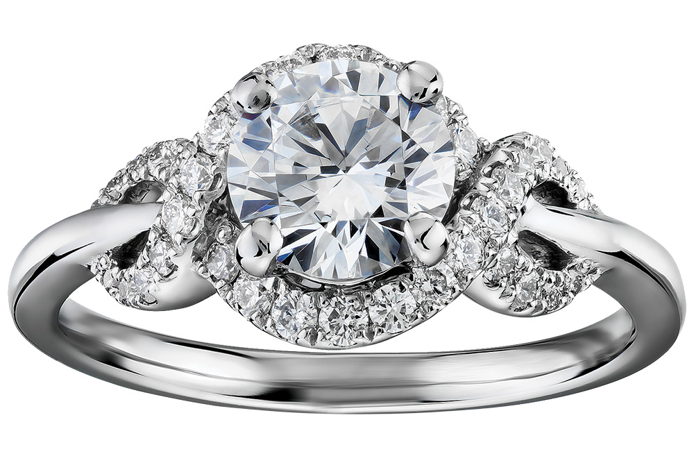 halo engagement ring by monique lhuillier for blue nile