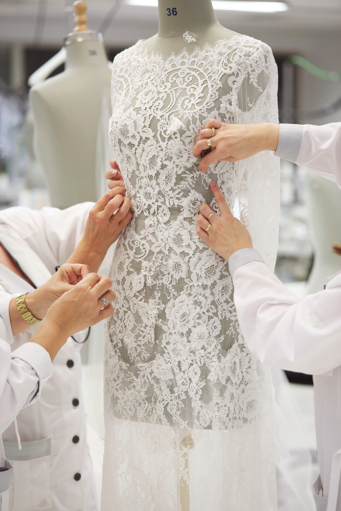Making a wedding gown