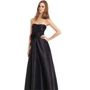 strapless long black dress