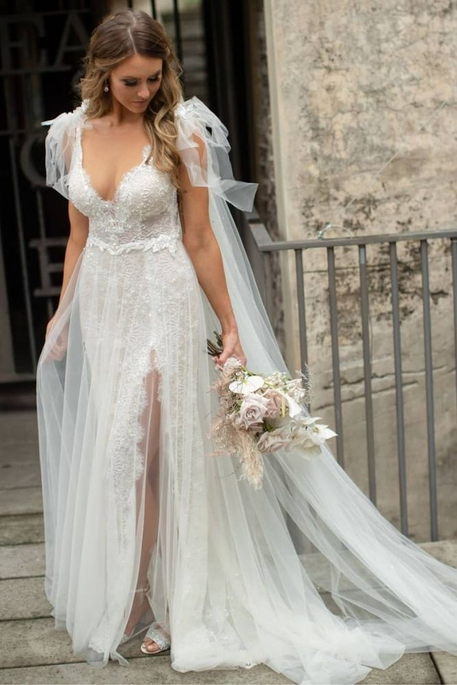 Bride in wedding gown