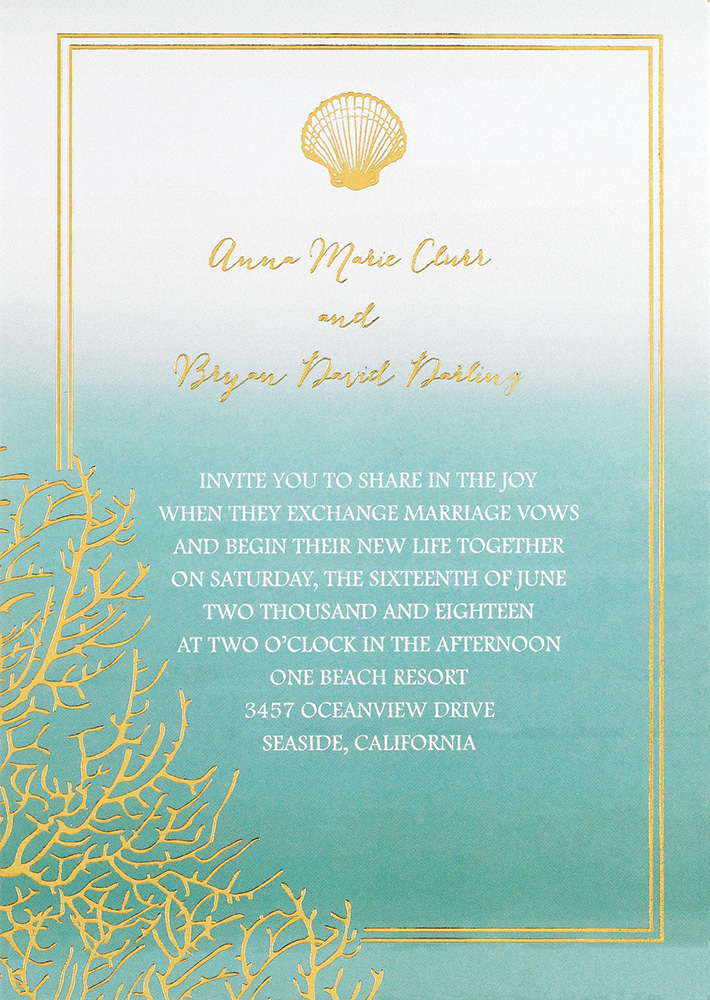 ombre invite colin cowie invitations by dawn