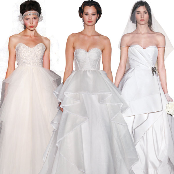 wedding gowns for boyish figures