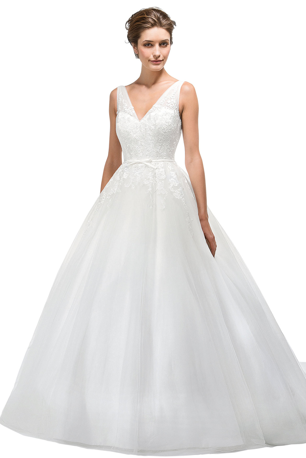Best wedding dress for your body type page 3 bridalguide for Full body wedding dress