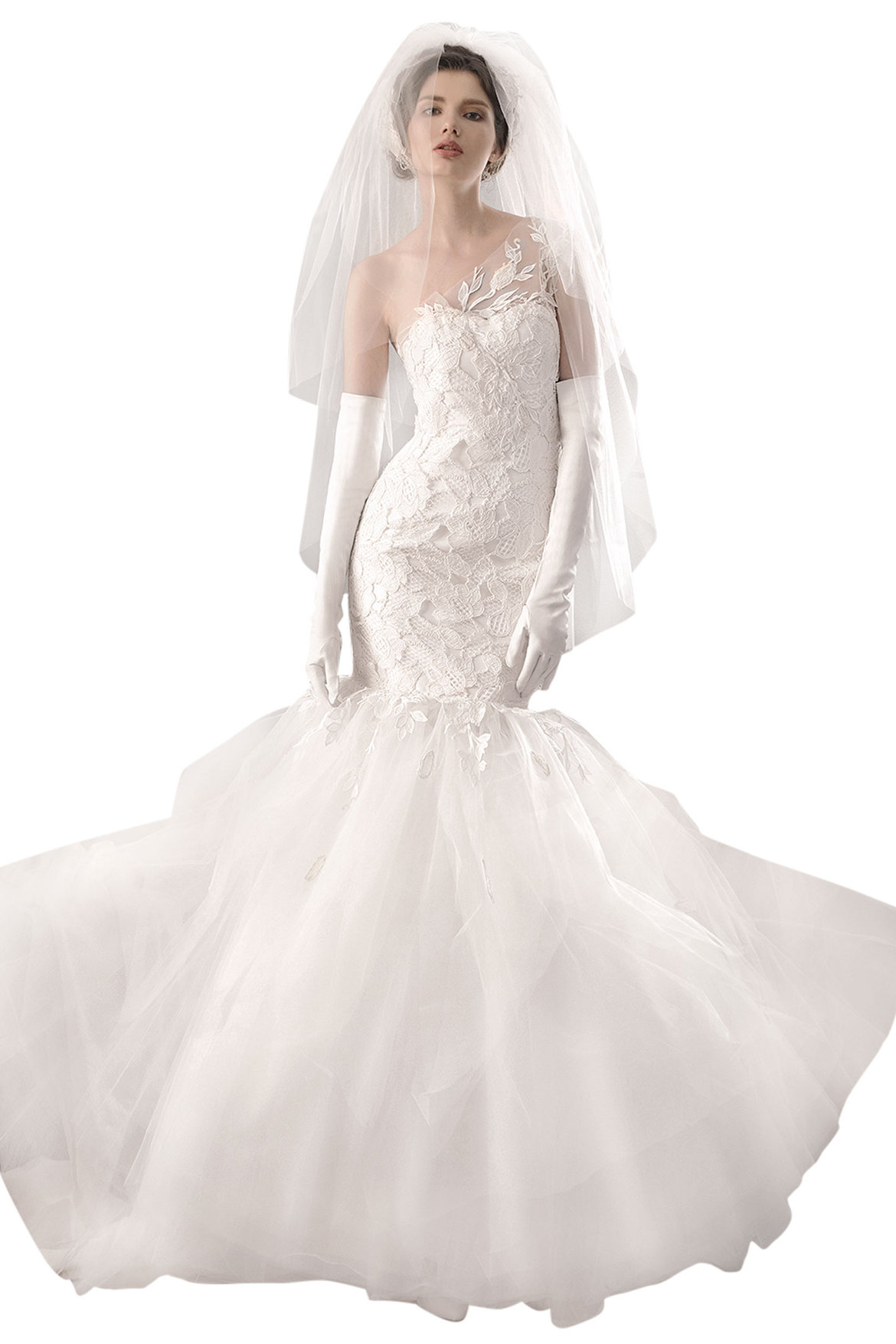 Best wedding dress for your body type bridalguide for Best stores for dresses for weddings