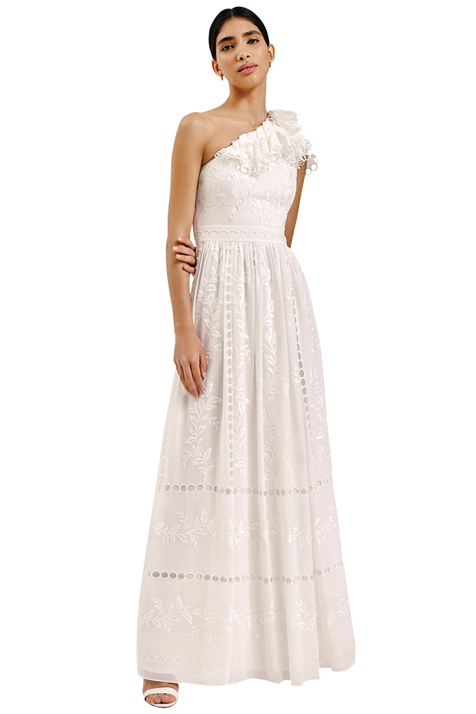 Whistles cold shoulder wedding gown