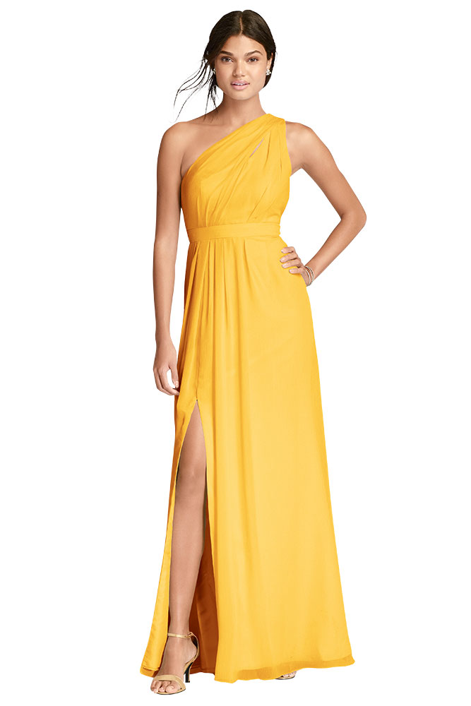 Yellow Bridesmaid Dress by Davids Bridal