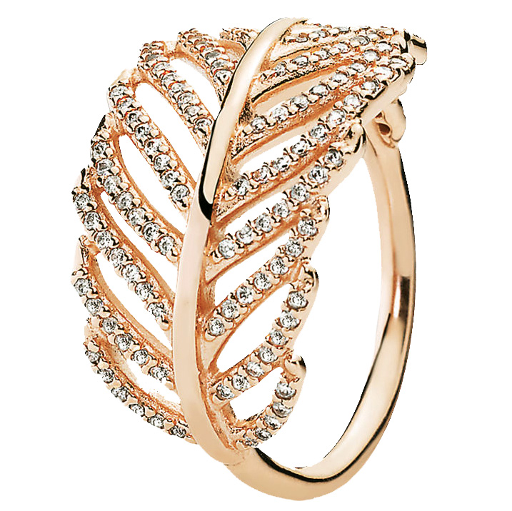 Feather ring by Pandora