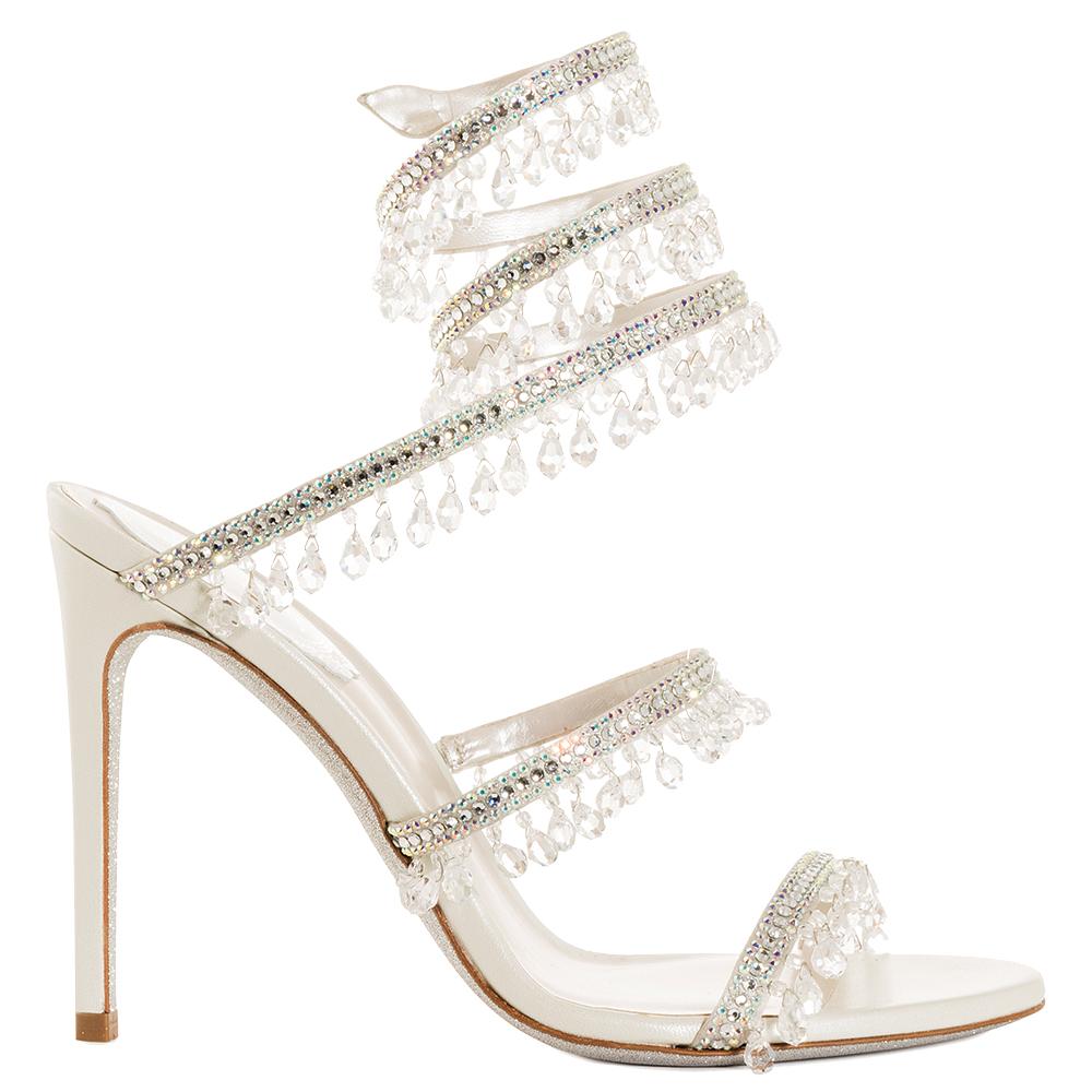 Chandelier crystal heel by Rene Caovilla